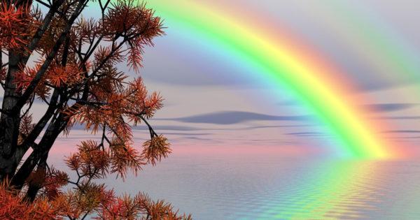"""Povestea curcubeului – """"În spatele fiecărui curcubeu e zâmbetul lui Dumnezeu."""" – Viorel Vintila"""