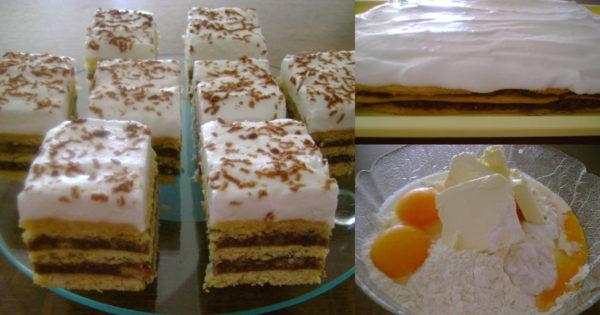 Katy sau prajitura cu foaie zdrobita – o prajitura delicioasa de casa din bucataria ungureasca! Pofta buna!