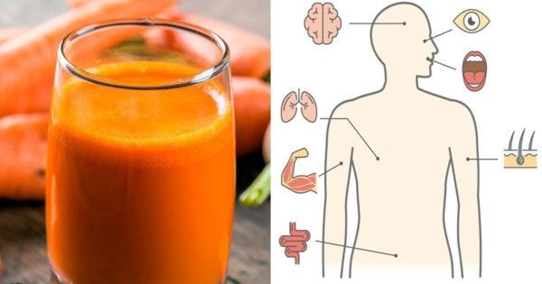 Un pahar de suc de morcovi pe zi face minuni pentru corpul tău