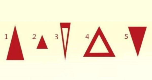 Alege un triunghi și află trăsătura principală a personalității tale