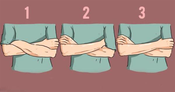Modul în care îți încrucișezi brațele peste piept poate spune multe despre personalitatea ta.
