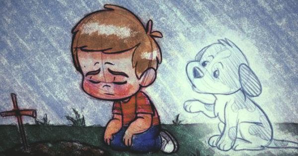 Moartea unui câine poate fi la fel de rea ca pierderea cuiva drag