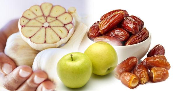 Usturoi, curmale și mere: trei alimente necesare pentru o sănătate de oțel